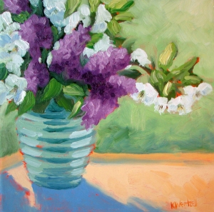 Lilacs on Green